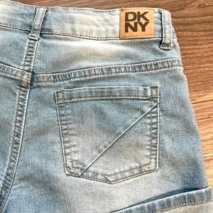 Dkny Bottoms - DKNY Hipster Cut-Off Cuffed Distressed Denim Short